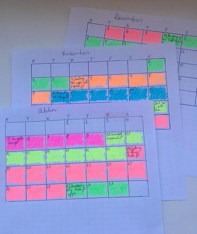 01 - procrastinating, deadline calendar
