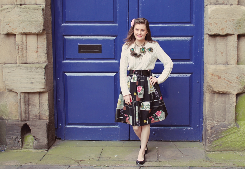vintage inspired outfit via www.lovebirdsvintage.co.uk