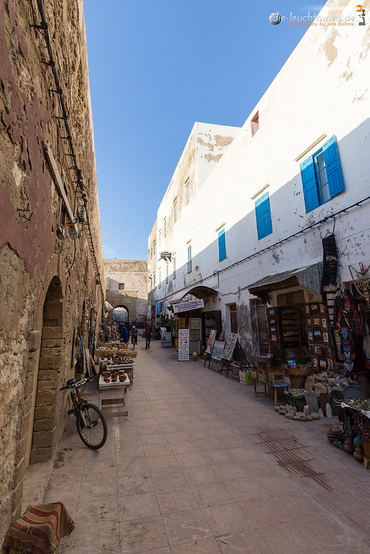 In the small alleys of Essaouira