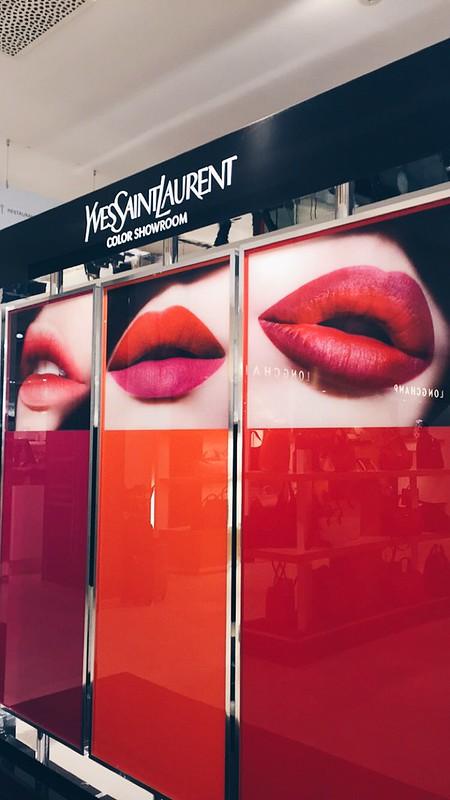 YSL beauty x galeries Lafayette lisforlois