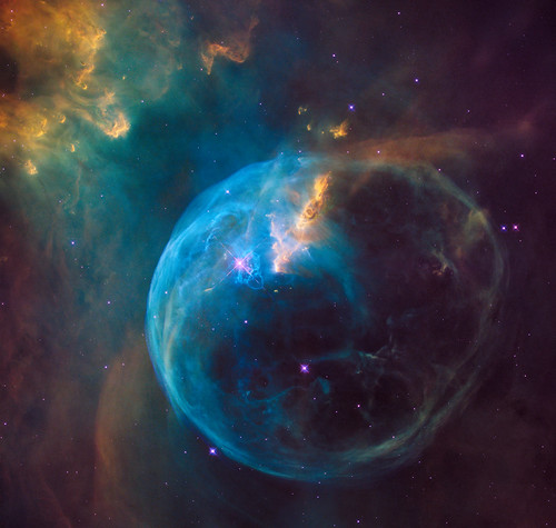 Hubble Sees a Star 'Inflating' a Giant Bubble