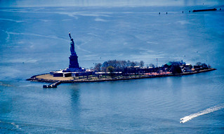 Image of  Statue of Liberty  near  City of Jersey City. thestatueoflibertyus thestatueoflibertyinnewyorkharborny newyorkharborny