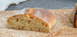 Ciabatta mit Pâte fermentée Anschnitt
