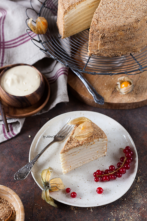 Cottage Cheese Honey Cake