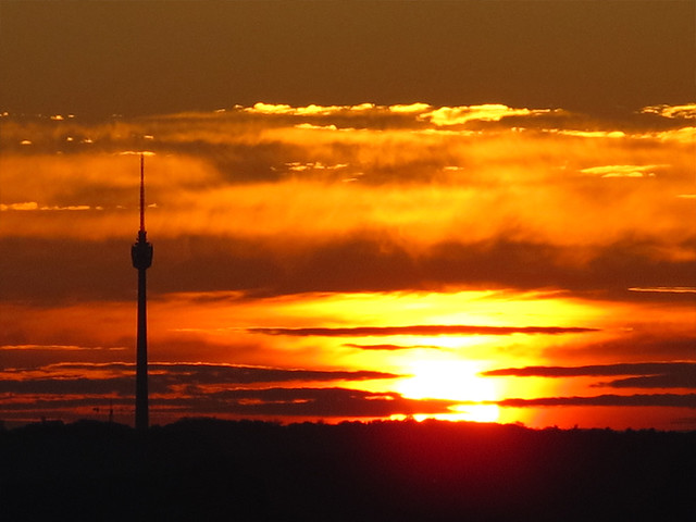 Stuttgarter TV-Tower at Sunset