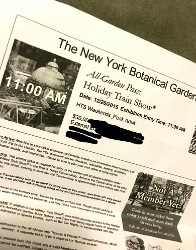 NYBG Holiday Train Show Ticket
