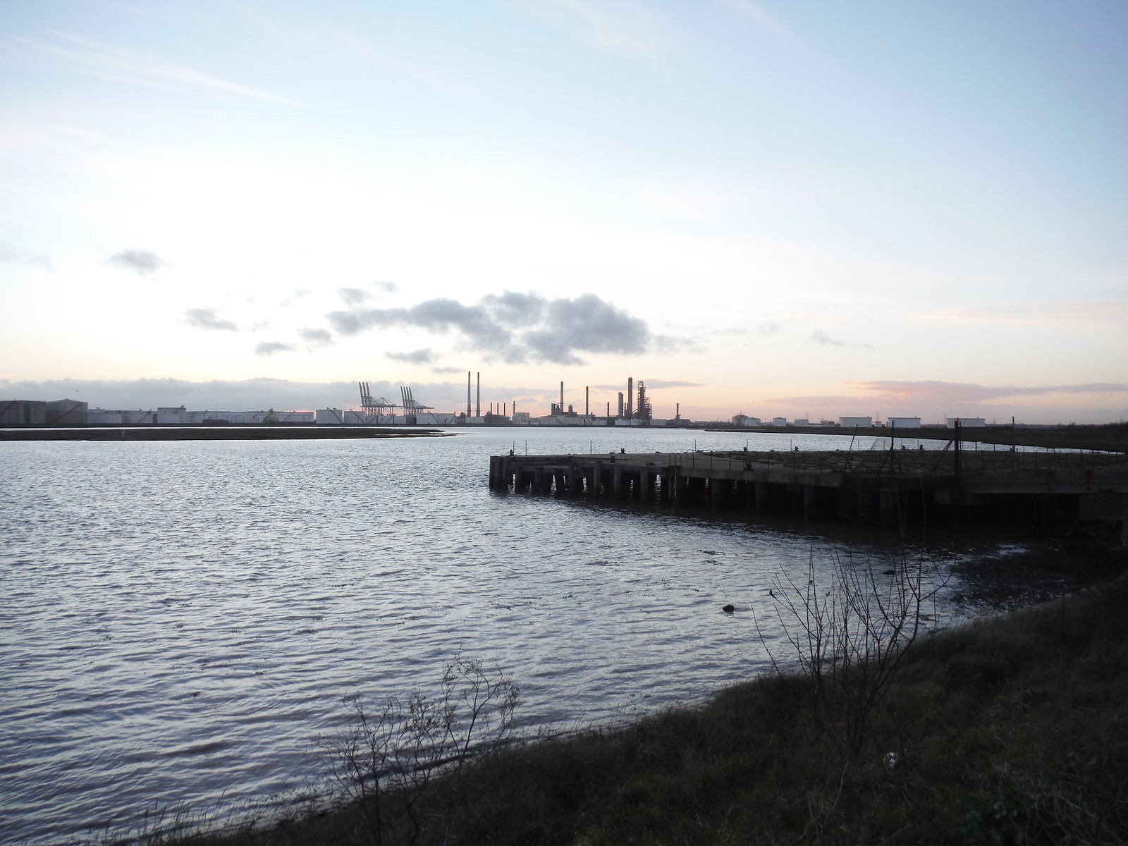 Ruined Jetty of never finished Occidental Refinery, Canvey Island SWC Walk 258 Benfleet Circular (via Canvey Island)