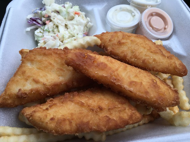 Halibut and chips - Al's Humdinger