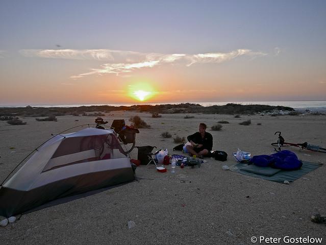 Sunrise on Ash Shuwaymiyyah beach