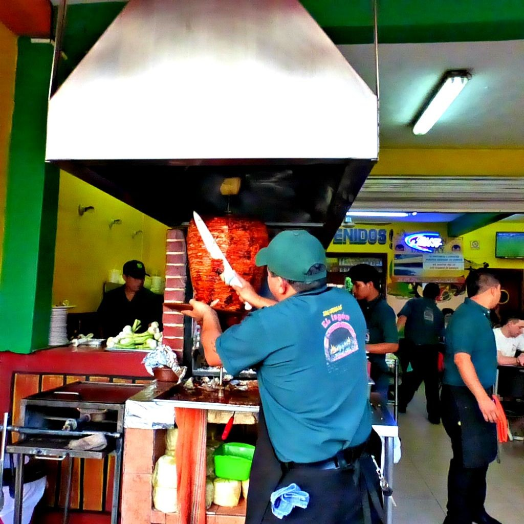 Slicing Al Pastor Tacos