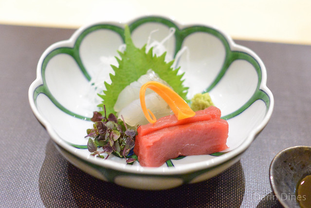 Sashimi hon-maguro, hirame
