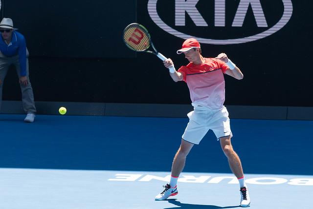 Andrey Kuznetsov at the Australian Open 2016