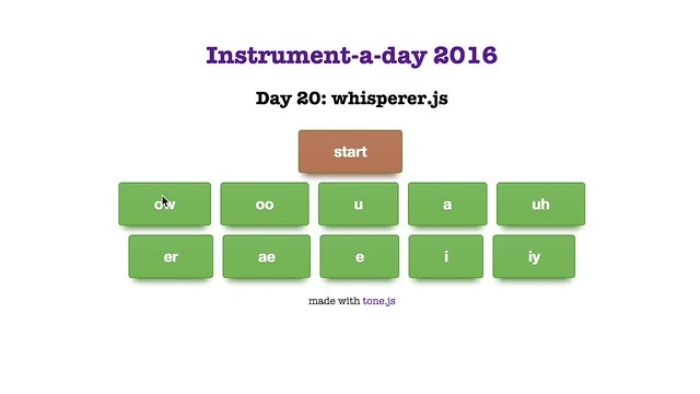 instrument-a-day 20: whisperer.js