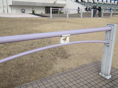 京都競馬場の柵の文様