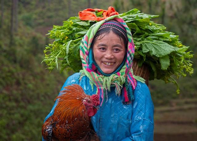 Vietnamese market - a smile