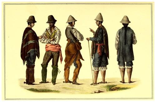 011-Vestimentas de hombres del campo cerca de Santiago de Chile