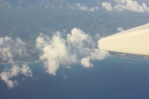 window plane flight jamaica windowview