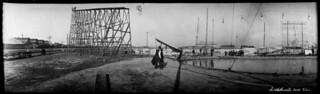 Bicycle stunt, Toronto Industrial Exhibition, Toronto, Ontario / Cascade à bicyclette à l'exposition industrielle de Toronto, en Ontario