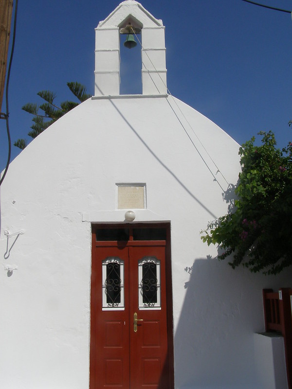 Mykonos Greece church doors