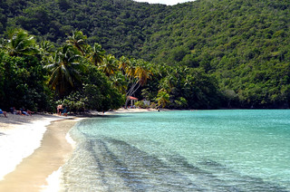 Image of Cinnamon Bay Beach.