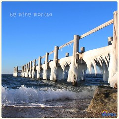 Happy Valentine's Day from Martha's Vineyard!  #Frozen #Icicles #SeasideParadise #SoCold #CuddleUp #WithTheOneILove #RisingTide #CatchAWave #BeachDay #Perfection #DownByTheSea #BlueSky #SkyWriting #BeMine #VD16 #StValentinesDay #MVwinter #NOfilter #MVinHD