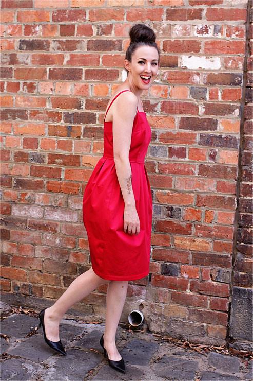 Red Vintage Dress #3