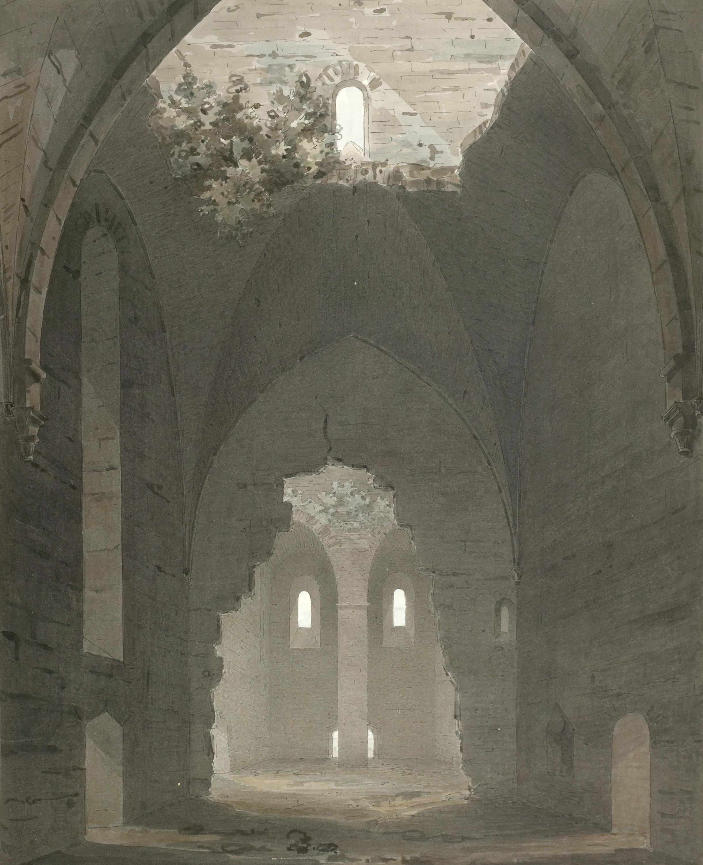 St. Göran medieval church ruin in Visby, Gotland, Sweden