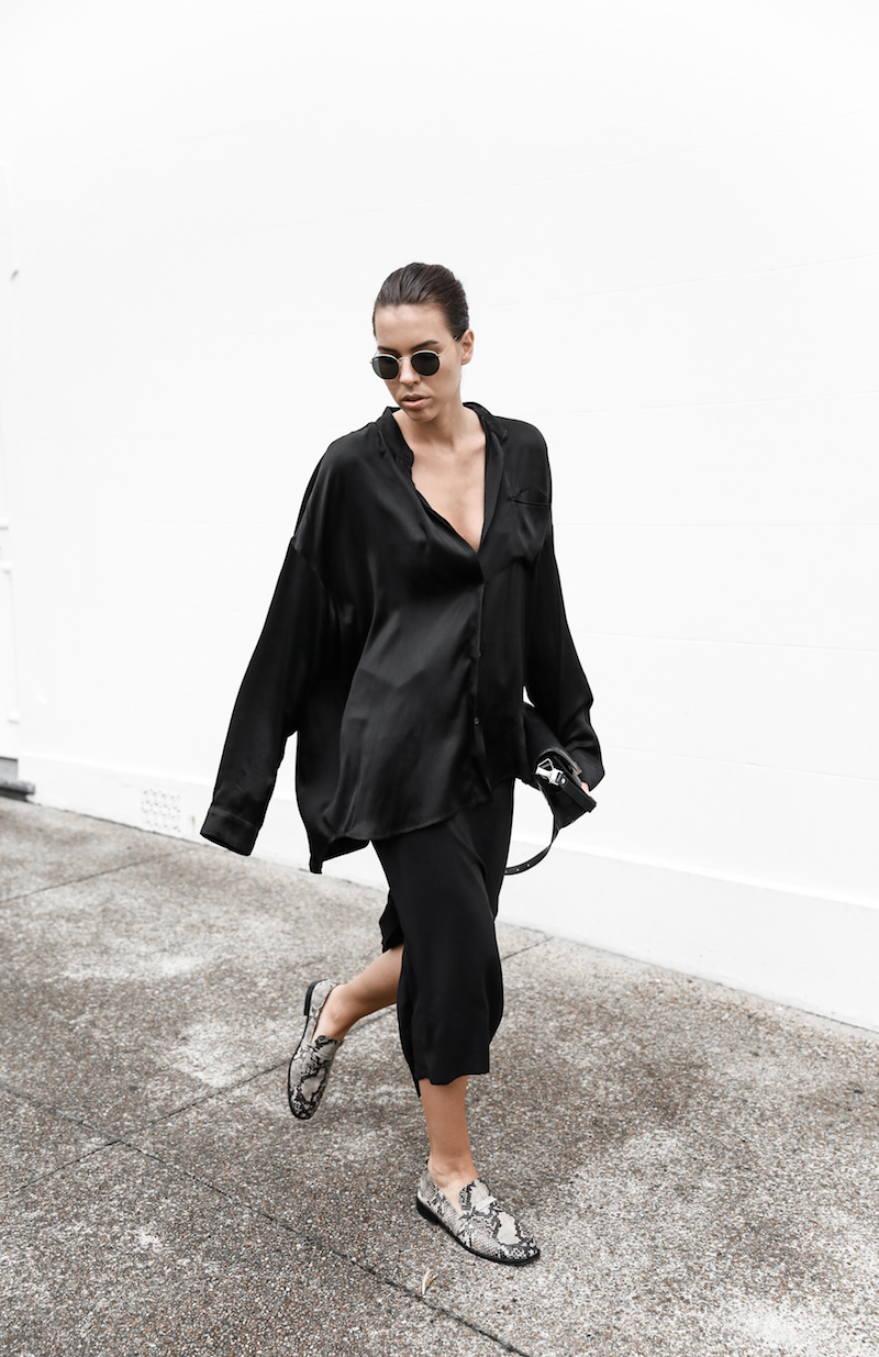 all black outfit inspo street style silk Proenza Schouler Mini fashion blogger Haider Ackermann modern legacy Instagram (5 of 7)