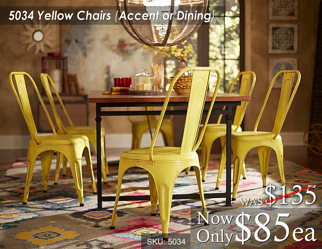 5034 Yellow Chairs Accent or Dining
