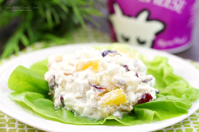 This Pineapple Cottage Cheese Salad is a healthy breakfast, lunch or snack idea! Easy and delicious! AD