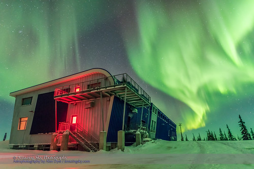 Auroral Curtains over Northern Studies Centre #2