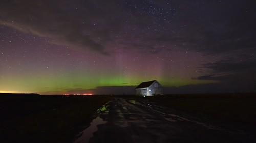 Short aurora time lapse over Thornham in Norfolk