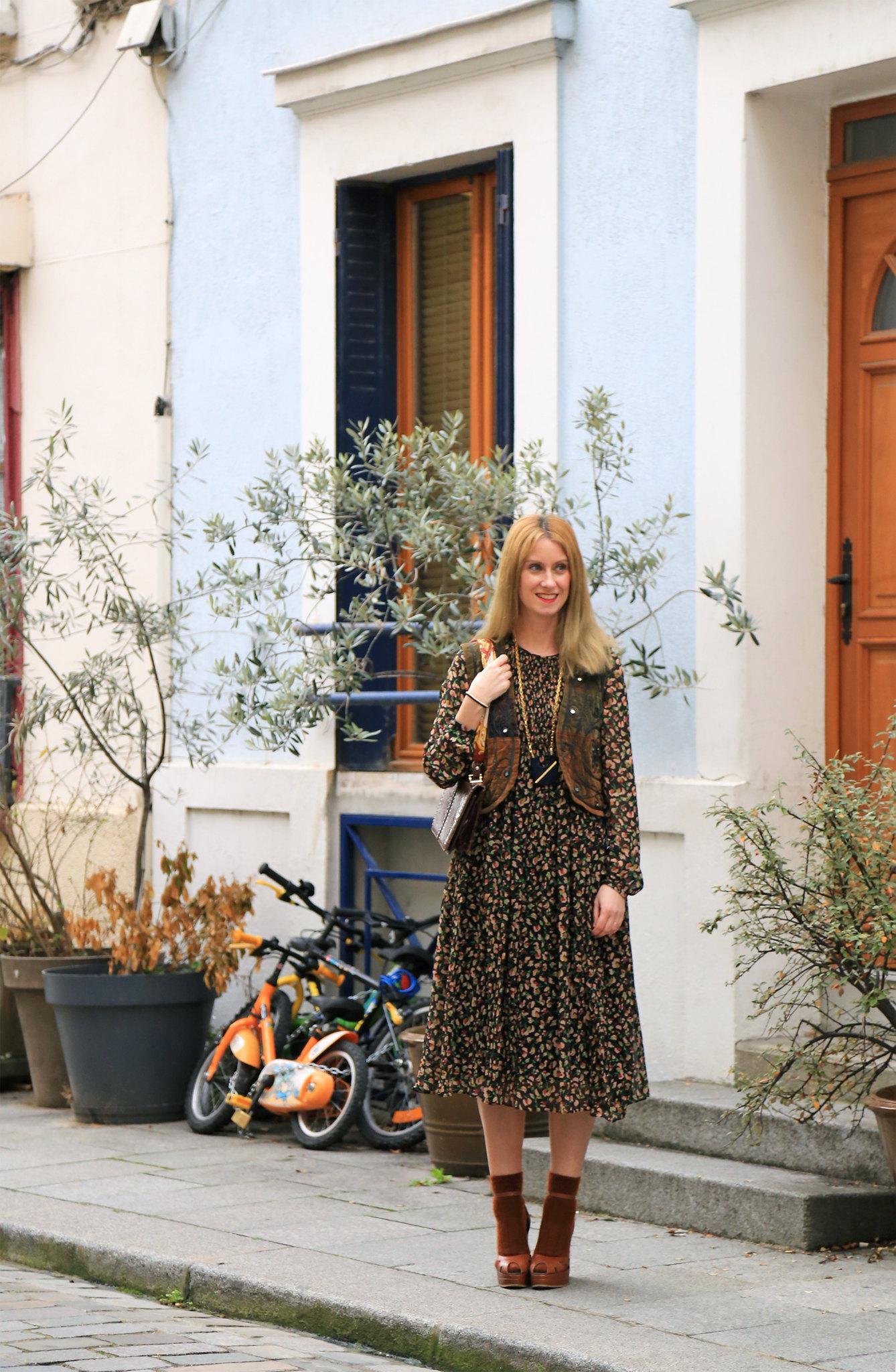 look style bohème robe imprimé fleuri zara