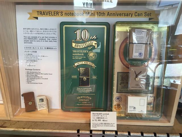 トラベラーズノート10周年記念缶