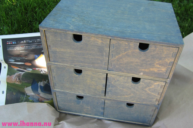 IKEA six drawers before spray painted by iHanna