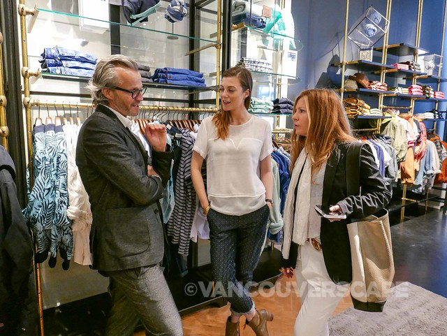 Scotch & Soda's Marcel LaFrance with Cait MacLachlan and Susie Wall