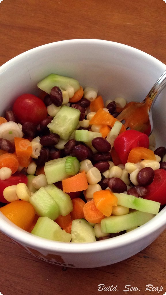 Black bean and corn salad by Julie @ Build, Sew, Reap