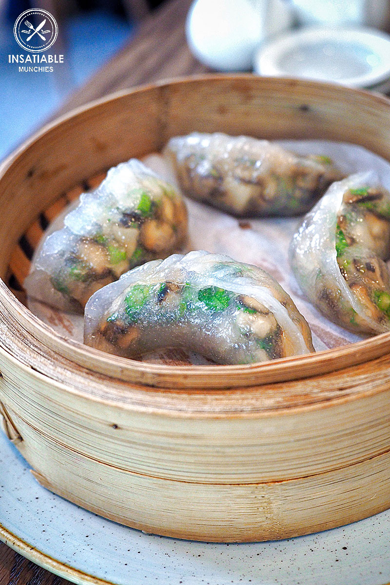 Steamed shiitake mushroom dumplings, $12: Lotus, Sydney. Sydney Food Blog Review