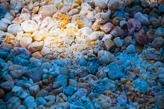 Rock crushed by crawler