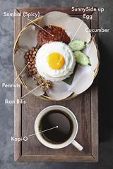 Malaysian Breakfast - Nasi Lemak + Kopi-O