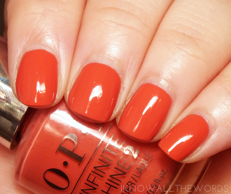 OPI Infinite Shine It's Familiar terra-tory
