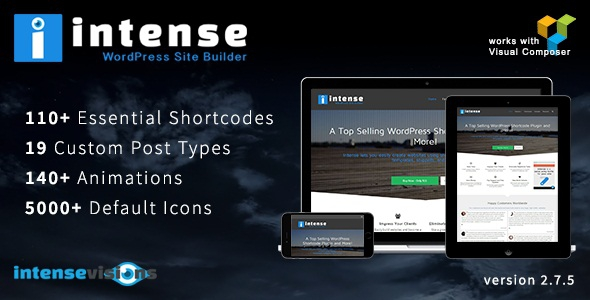 Intense v2.8.7 – Shortcodes and Site Builder for WordPress