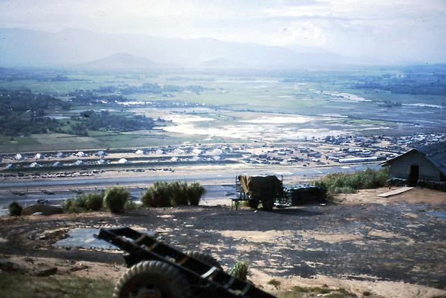 DUC PHO 1969-70 by John Davidson - A Look Down From The Top Of Monezuma To The LZ Bronco Air Strip