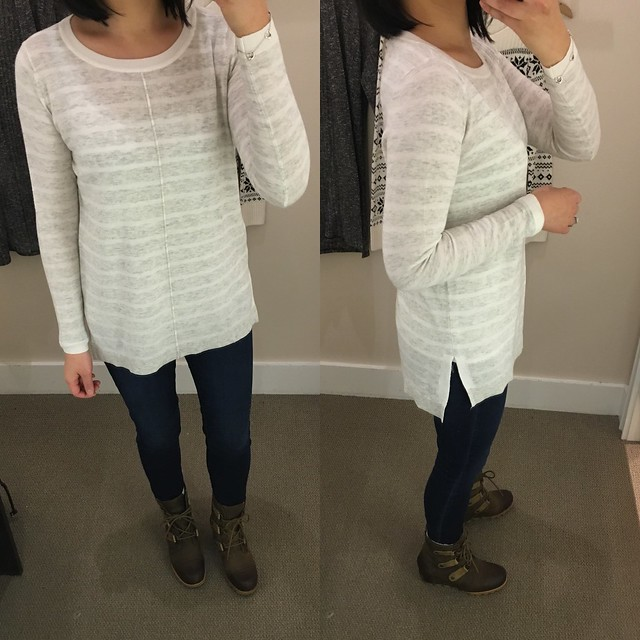LOFT Striped Relaxed Tunic