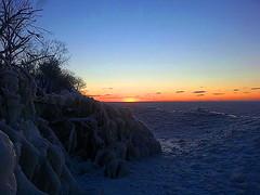 Frozen Lake Erie Sunset