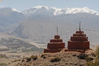 Nepal Mustang Lo Gekar Chortens