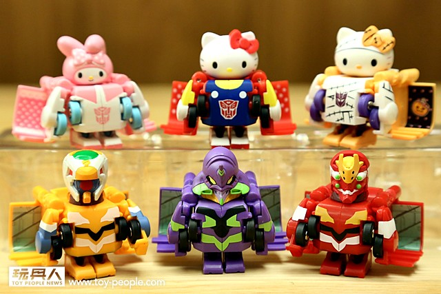 Q-Transformers【日版聯名收藏系列】凱蒂貓 vs. 新世紀福音戰士 大亂鬥!!