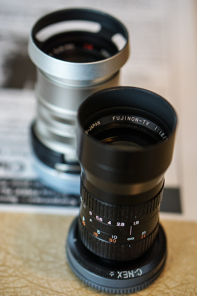 fujinon tv 75mm f/1.8 in cmount lnes