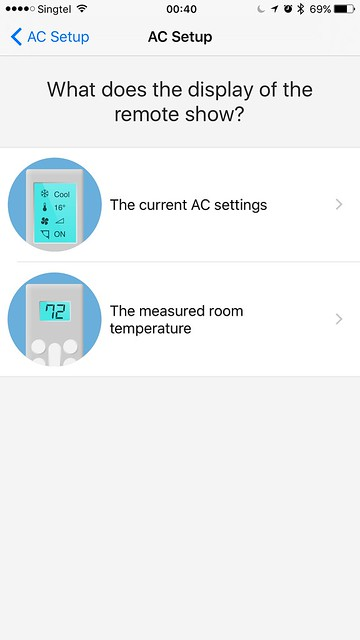 tado iOS App - AC Setup - Remote Control Display