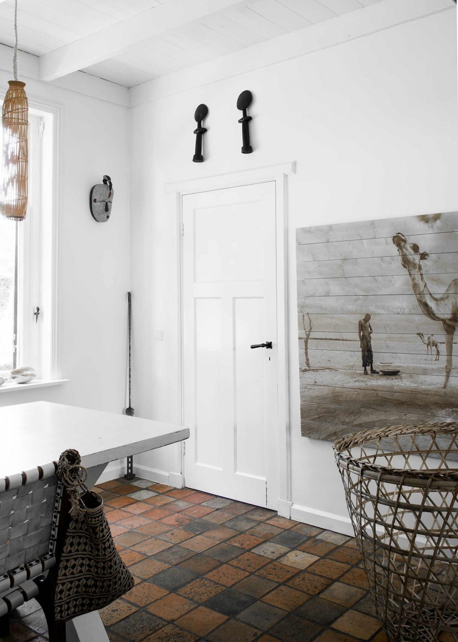 White Home With Ethnic Details